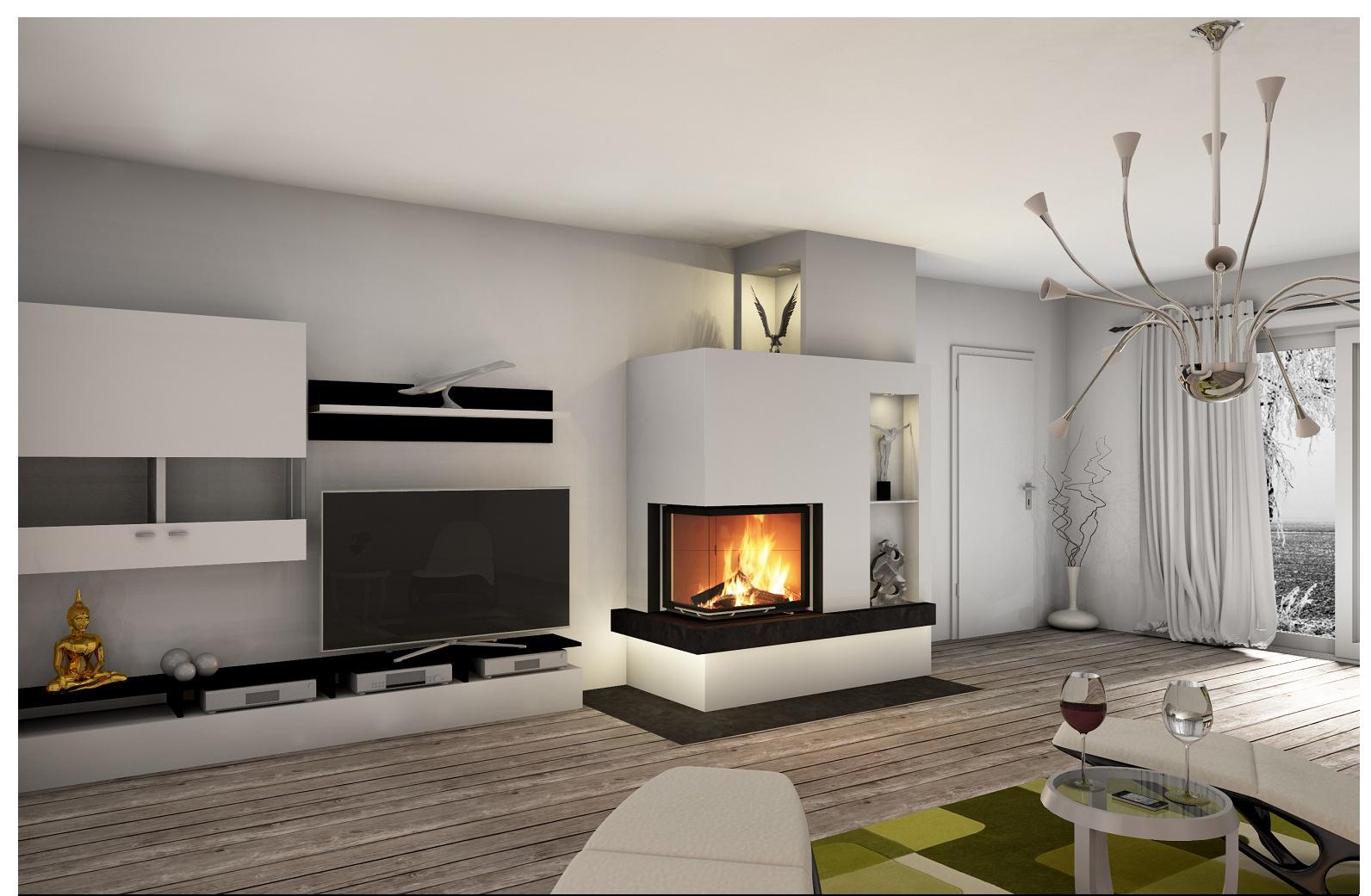 Das Wohnzimmer mit Kamin oder Ofen gestalten - Ideen für ein