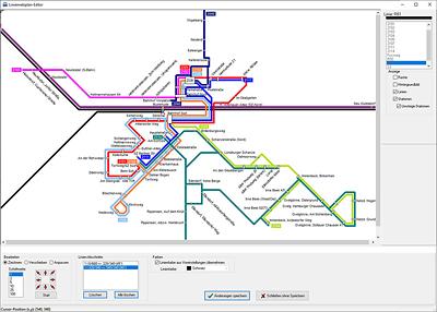LineMap Draw Screenshot mit geöffneten Beispielprojekt